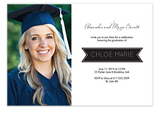 Banner Graduation Invitation Photo Cards