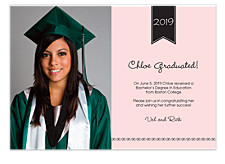 Classic Graduation Invitation Photo Cards