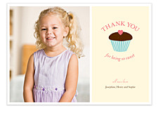 Cupcake Thank You Cards