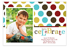 Time to Celebrate Kid Party Invitations