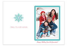 Baby, It's Cold Outside Photo Christmas Cards