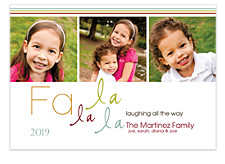 FA LA LA Christmas Photo Cards