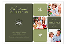 Square Winter Christmas Photo Cards