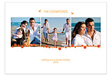 Orange Berries Holiday Photo Cards