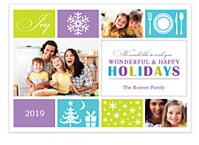 Wonderful Wishes Holiday Photo Cards