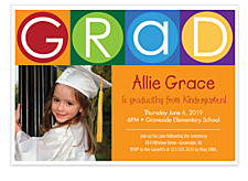 Child's Play Graduation Invitation Photo Cards
