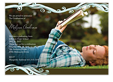 Ocean Waves Graduation Invitation Photo Cards