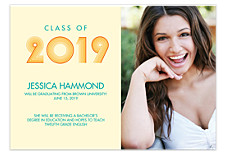 Beach Graduation Announcement Photo Cards