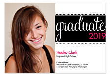 Seniors Rock Graduation Invitation Photo Cards