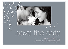 Blossoming Love Save the Date Photo Cards
