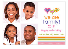 We Are Family Mother's Day Photo Cards