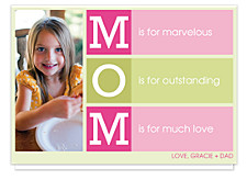 M is for Mother's Day Photo Cards