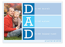 D is for Daddy Father's Day Cards