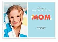 Daisy Teal Mother's Day Cards