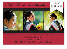 Laurels Graduation Announcement Photo Cards
