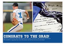 Epiphany Harvard Blue Photo Graduation Announcements