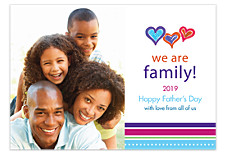 We Are Family-Father's Day Photo Cards