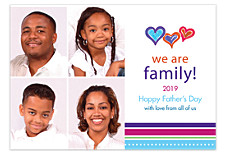 We Are Family-Father's Day 4 Pic Photo Cards