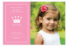 Princess Kid Birthday Party Invitations