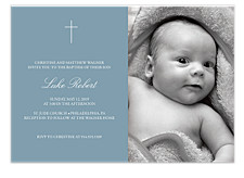 Boat Baptism Kid Party Invitations