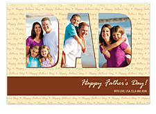 DAD Father's Day Photo Cards