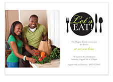 Let's Eat Adult Party Invitations