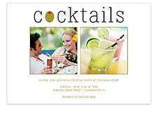 Cocktails Adult Party Invitations
