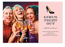 Girl's Night Out Adult Party Invitations