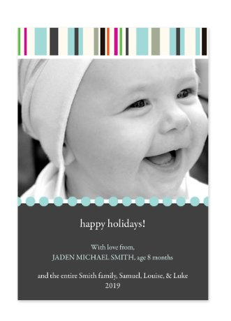 Entice Blue Holiday Photo Cards