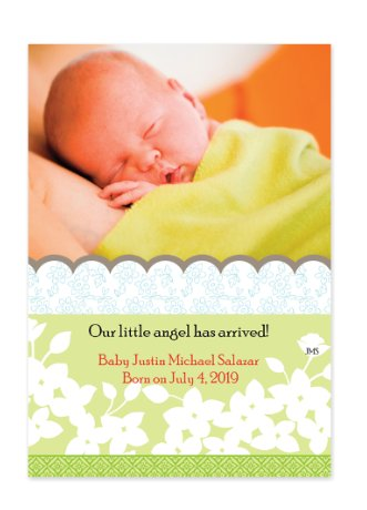 Dawn Green Birth Announcement Photo Cards