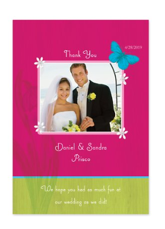 Concepts Wedding Thank You Photo Cards