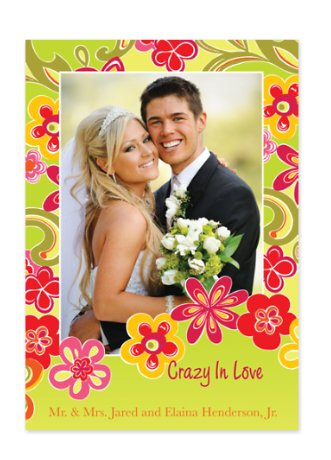 Flower Power Holiday Photo Cards