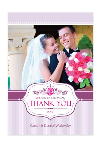 Truly Grateful Wedding Thank You Photo Cards