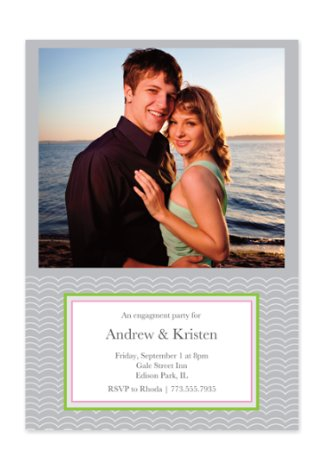 Scallops Adult Party Invitations
