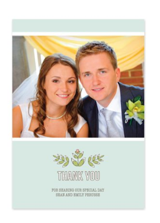 Woodsy Floral One Wedding Thank You Cards