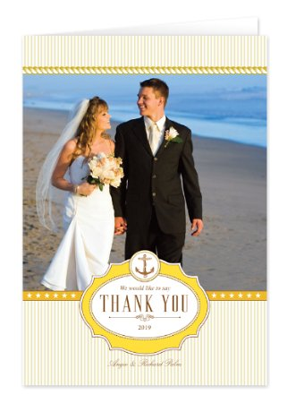 Nautical Thanks Wedding Thank You Cards