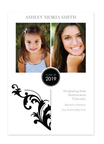 New Adventures Graduation Announcement Photo Cards