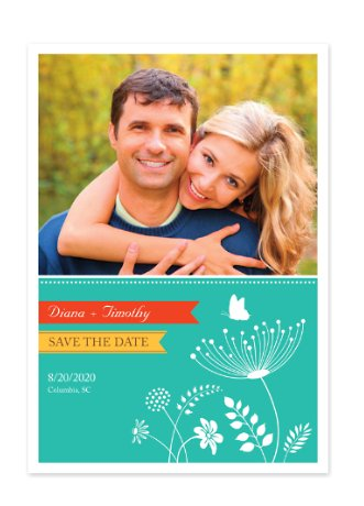 You Light Up My Life Photo Save the Date Cards