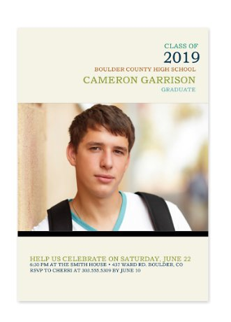 Golden Rule Graduation Invitation Photo Cards
