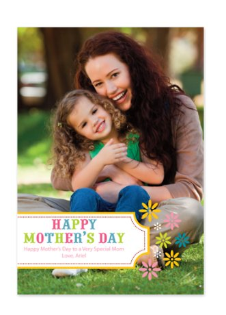 Floral Photo Mother's Day Cards