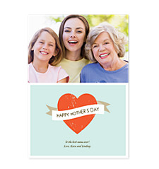 Blue Banner Mother's Day Photo Cards