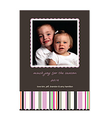 Reflections Pink Photo Holiday Cards
