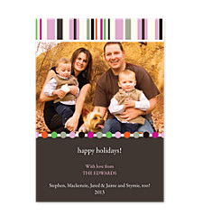 Tones Pink Photo Holiday Cards
