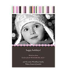 Entice Pink Holiday Photo Cards