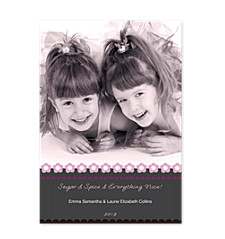 Inspire Pink Christmas Photo Cards