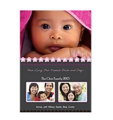 Tastefully Pink Christmas Photo Cards