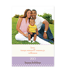 Amethyst Photo Christmas Cards