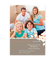 Awesome Brown Party Photo Invitation Cards