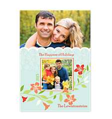 Hint of Spring Photo Christmas Cards