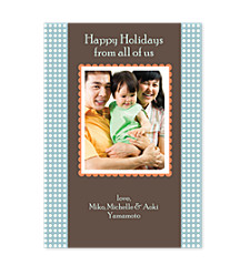 Aura Blue Photo Christmas Cards
